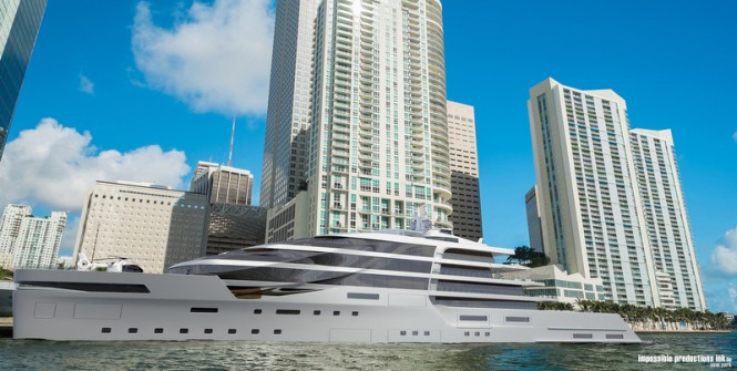 New 140m mega yacht IPI140 concept by Impossible Productions Ink LLC