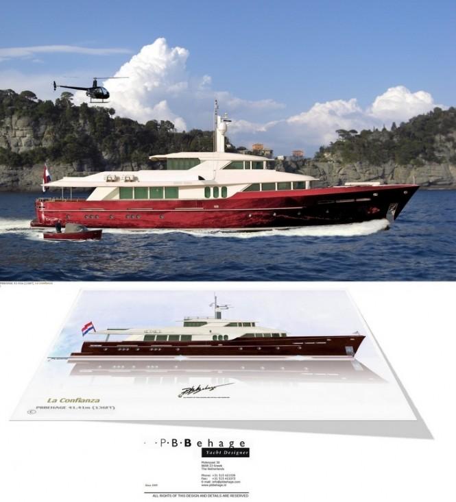 New 41,41m explorer yacht La Confianza concept by P.B. Behage