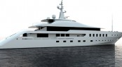 New 64m mega yacht Project A3 by Aegean Yacht