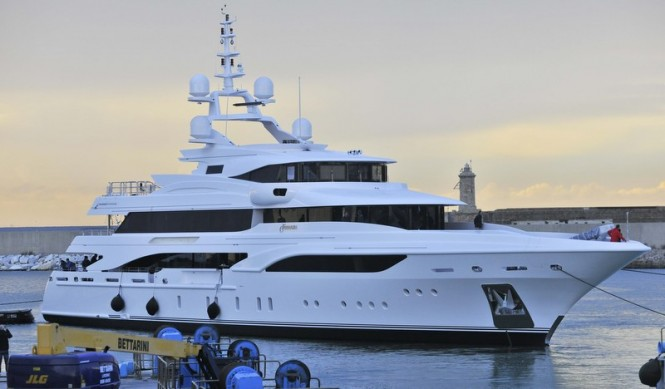Newly launched super yacht Formosa