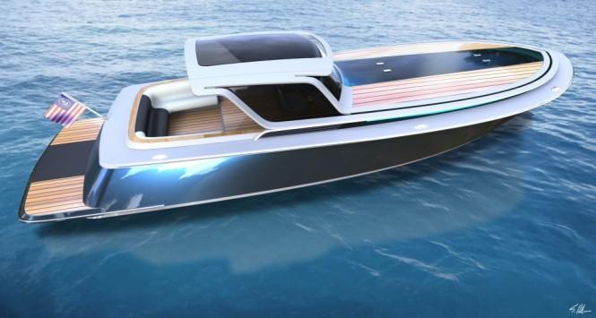 Peconic 43 mega yacht tender concept by Scott Henderson