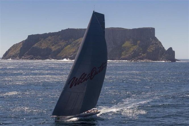 Reichel Pugh designed Supermaxi yacht WILD OATS XI (AUS) on the way to her eighth Line Honours victory - Photo by Rolex Carlo Borlenghi