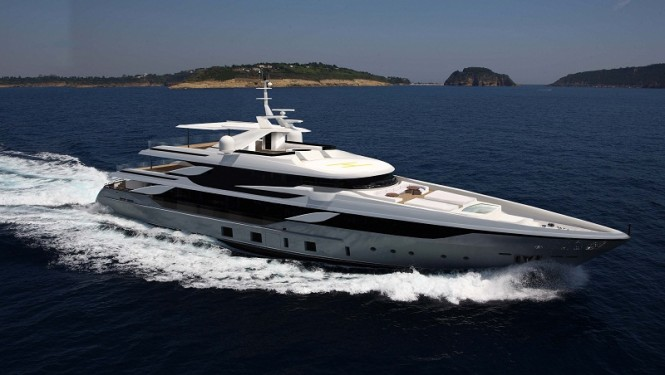 Rendering of the 50m Benetti super yacht VICA (hull FB 801)