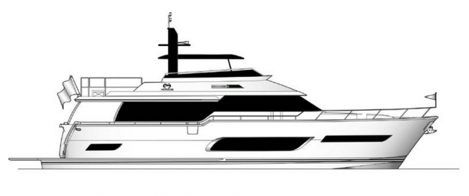 Rendering of the second Horizon V72 Yacht