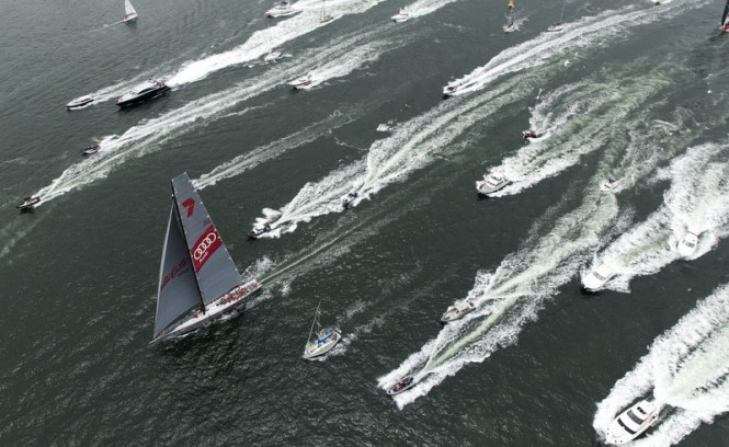 SOLAS Big Boat Challenge 2014 from above