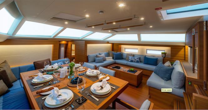 SW102RS Sailing Yacht Farfalla - Dining - Photo Alain Proust