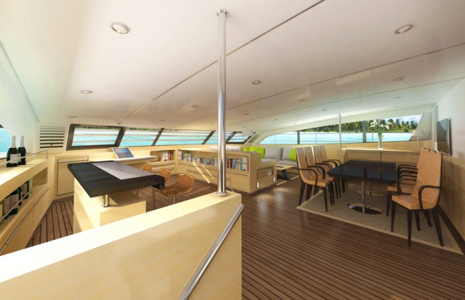 Sea-Voyager 83' yacht concept - Lounge