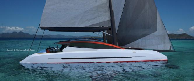 Solstice superyacht concept - side view