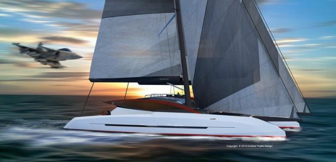 Solstice superyacht concept underway