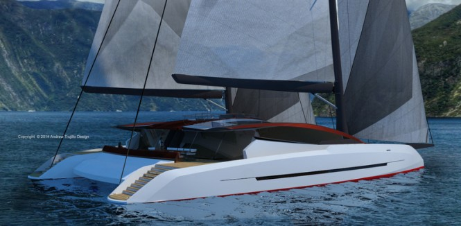 Solstice yacht concept - aft view