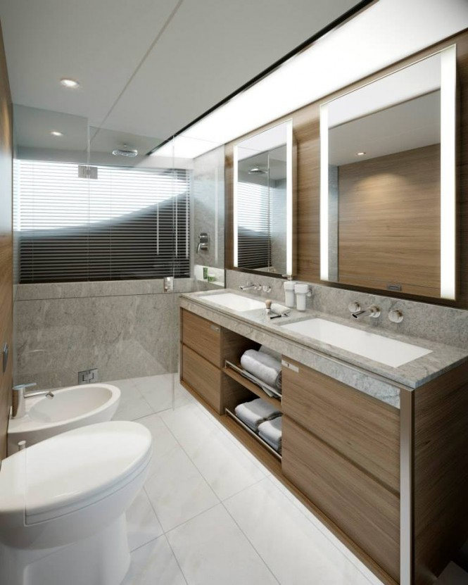 Super yacht Princess 30M - Stateroom Bathroom