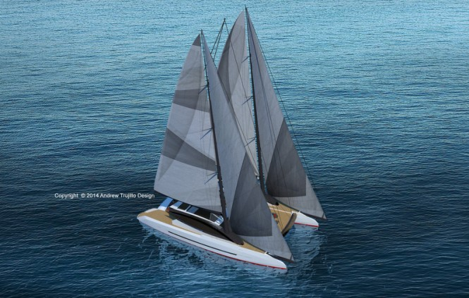 Super yacht Solstice concept from above