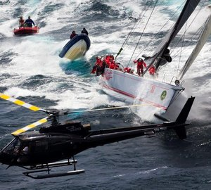 Wild Oats XI Yacht ready to participate in the Rolex Sydney Hobart Yacht Race 2014