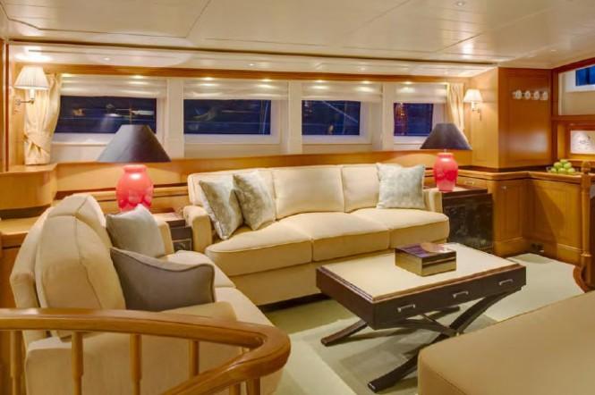 Super yacht Wisp - Interior - Photo by Cory Silken