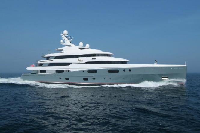 Superyacht AVIVA - Photo by Abeking and Rasmussen