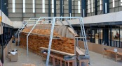 Superyacht Hull 1012 under construction at Yachting Developments' new site yard