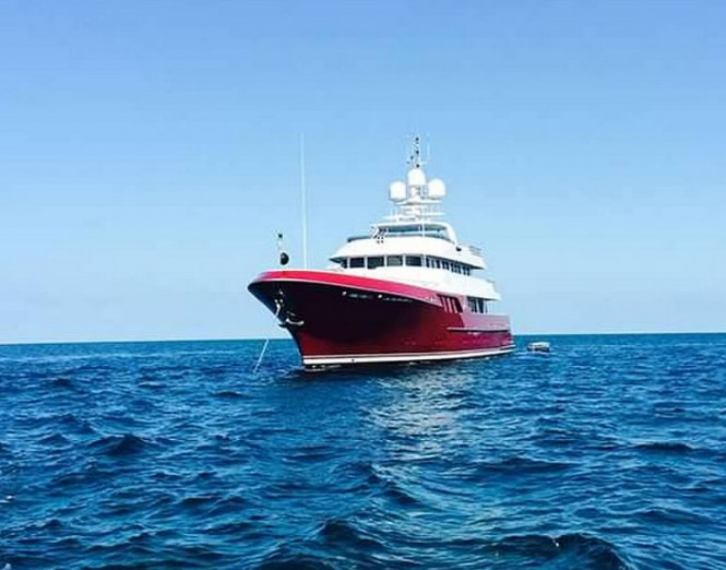 Superyacht Qing - front view
