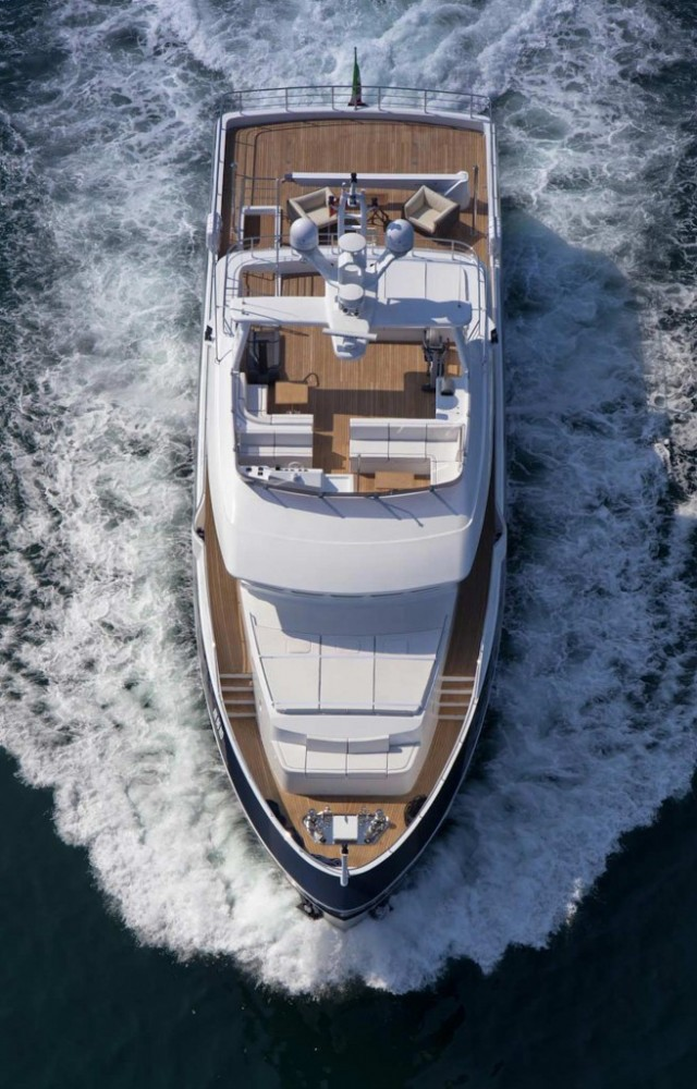 Superyacht Stella di Mare from above