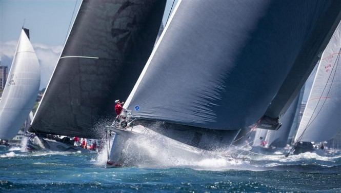 Superyacht Wild Oats XI at the start line - Photo by Rolex Carlo Borlenghi