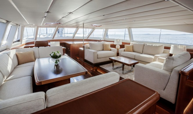 Swan 105 RS Yacht - Saloon Photo by Nautors Swan and Eva-Stina Kjellman