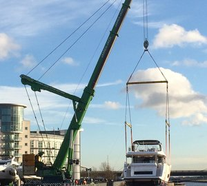 The arrival of first luxury yachts to be displayed at 2015 CWM FX London Boat Show