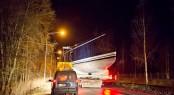 Transportation of Nautors Swan sailing yacht Swan 115-002 - Photos by Karolina Isaksson, bildbolaget Du & Vi.