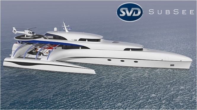 Trimaran yacht Project Subsee - side view