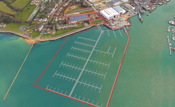 Victoria Marina at East Cowes on the Isle of Wight, UK