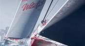 WILD OATS XI and COMANCHE at start of 2014 Rolex Sydney Hobart Yacht Race - Photo by Rolex Daniel Forster