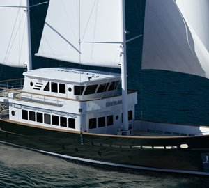 New 27m motor sailer yacht SVETLANA nearing completion at AvA Yachts