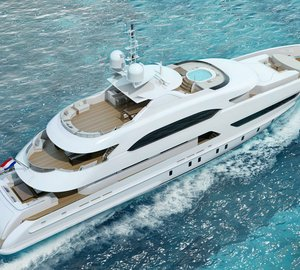 New 47m motor yacht ASYA (Project Hé, YN 16947) launched by Heesen Yachts