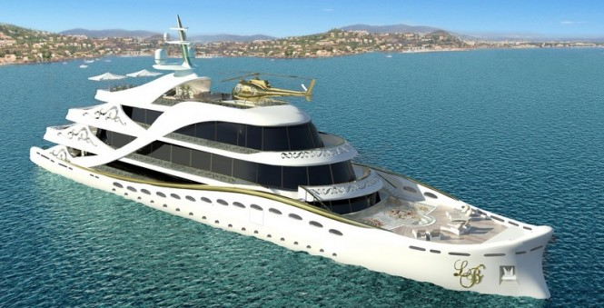 80m mega yacht La Belle by Lidia Bersani Luxury Design