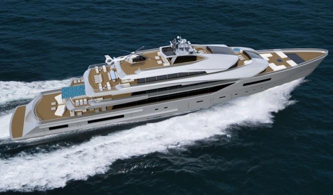 90 Nobiskrug superyacht concept from above