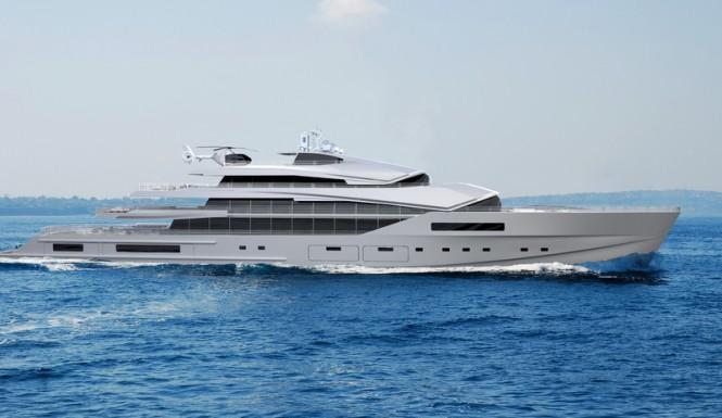 90m Nobiskrug superyacht concept - side view