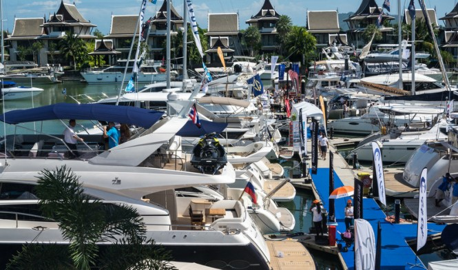 A packed marina included 17 boats over 20 metres in length and a total of 51 boats on display.