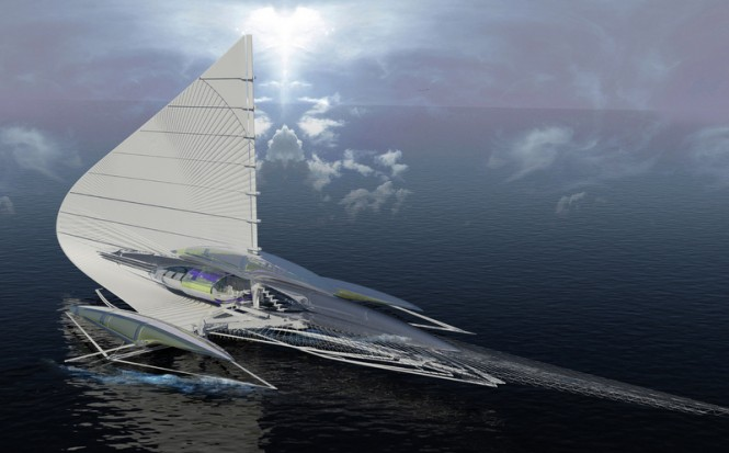 A solar-powered yacht by Architect Margot Krasojevic