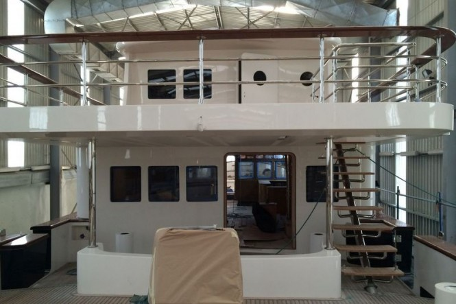 Aboard Svetlana Yacht under construction at AvA Yachts
