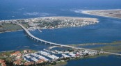 Aerial view of Camachee Cove Yacht Harbor - a beautiful Florida yacht holiday destination