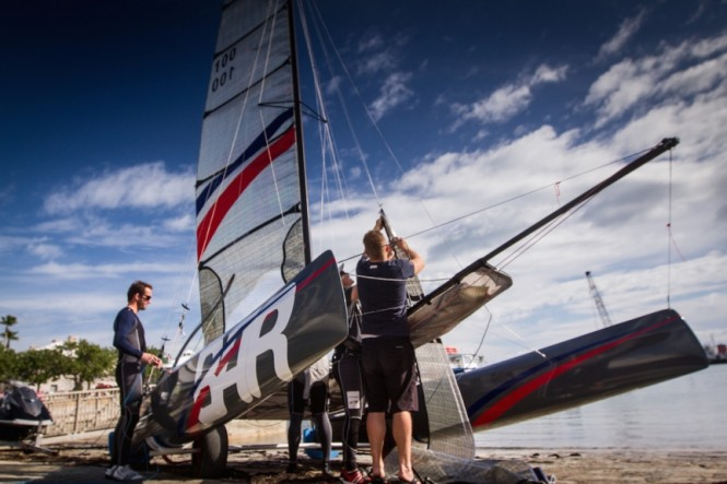 Ben Ainslie Racing team in Bermuda - Photo by Alex Palmer BAR