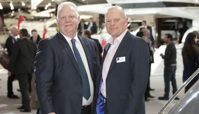 Chris Gates, Managing Director of Princess Yachts International and Murray Ellis, Managing Director of National Boat Shows