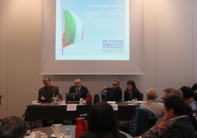 Genoa International Boat Show Press Conference at boot Dusseldorf 2015