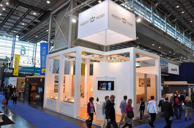 Gulf Craft stand at the Dusseldorf Boat Show 2014