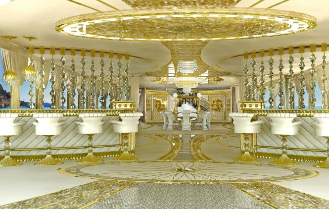 LA BELLE superyacht - Interior - Main Deck