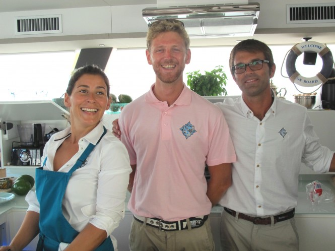 Luxury sailing catamaran yacht LIR - Chris, Natalie, Edd