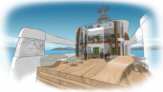 Luxury motor yacht CASA concept
