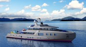 Luxury motor yacht Ocean Series 125 STX Explorer concept by Bray Yacht Design
