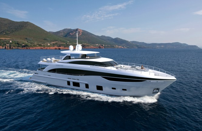 Luxury motor yacht PRINCESS 35M - Image courtesy of Princess Yachts International Plc