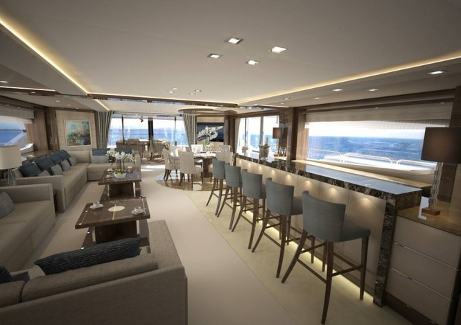 Luxury motor yacht Project Gold Diamond - Image by Sunseeker International