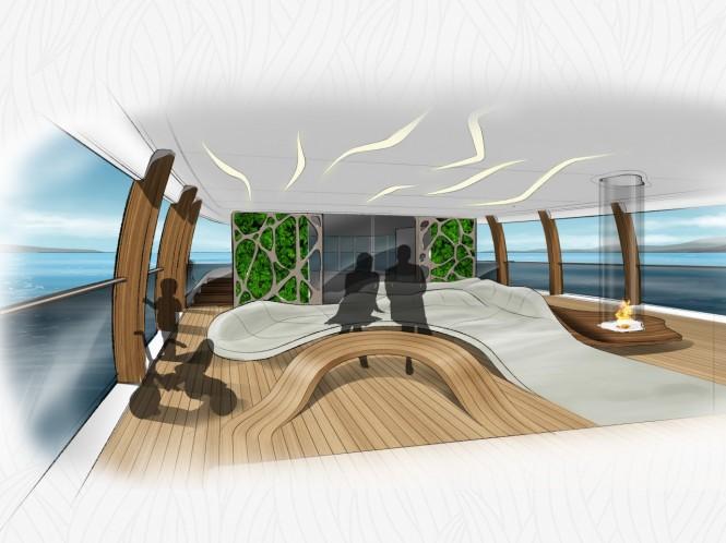 Luxury yacht CASA concept - Interior