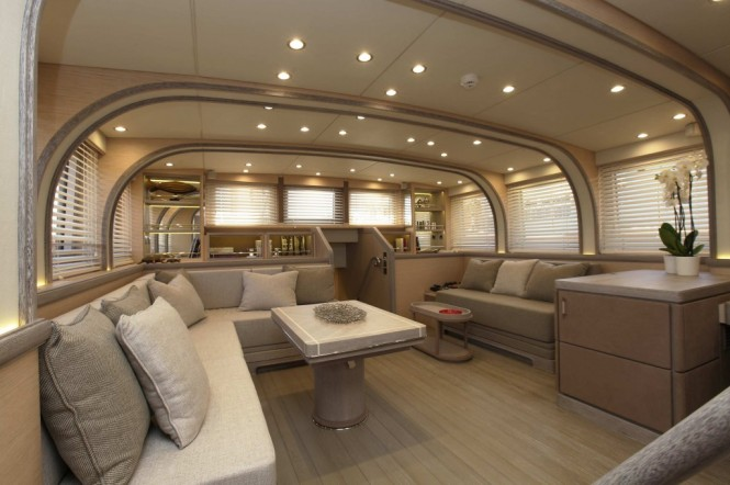 Luxury yacht In Love - Saloon